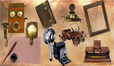 Clipart old items download - free psd file