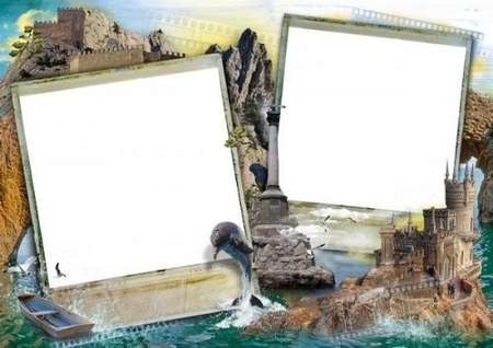 Travel frame download - free photo frame psd + png