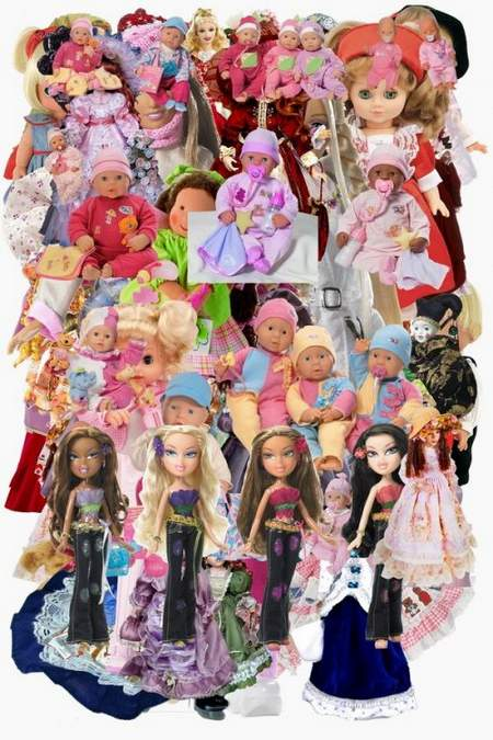 Dolls download - dolls clipart free psd file