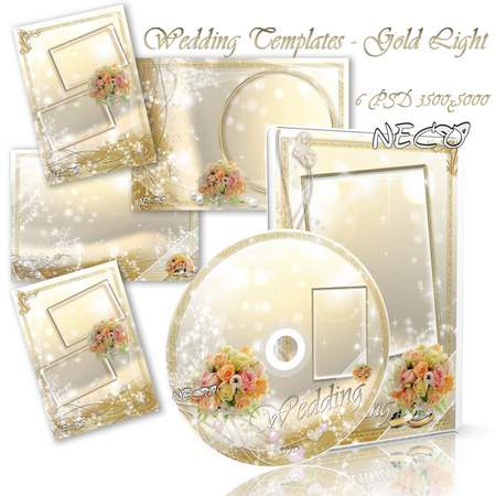 Wedding templates - Gold light - 6 elements