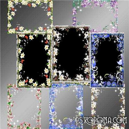 Frames for Photoshop - Flower World
