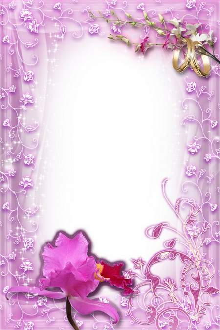 Wedding Frame - Romantic Spirit of Orchids