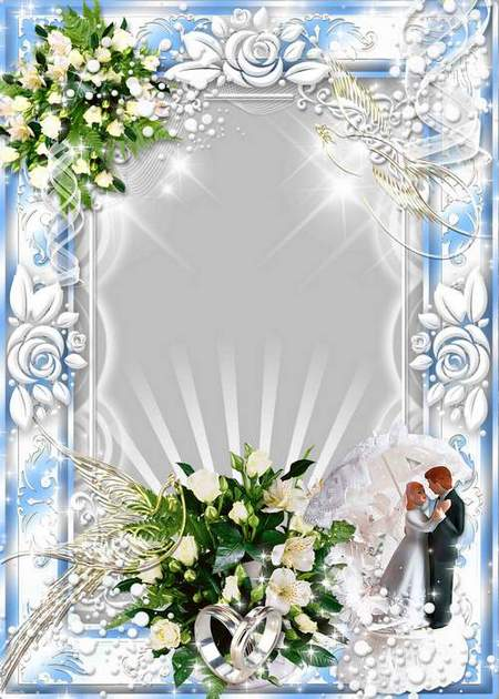 Wedding frame for photo - Touch to enchant - a bouquets of the humid kisses