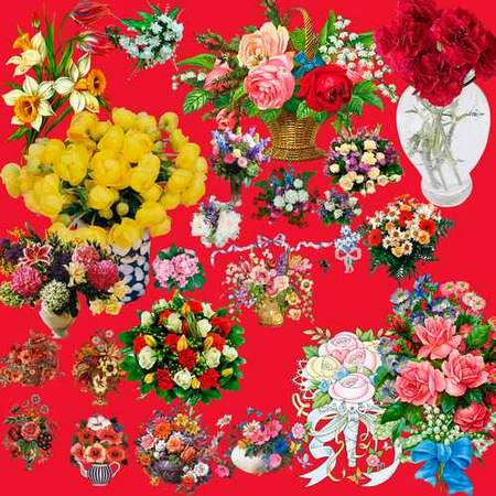 Flower bouquets psd download - free clipart psd
