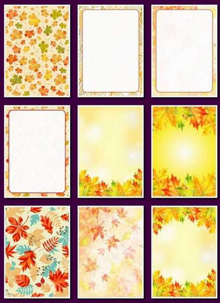 Colorful autumn backgrounds download - 16 png backgrounds