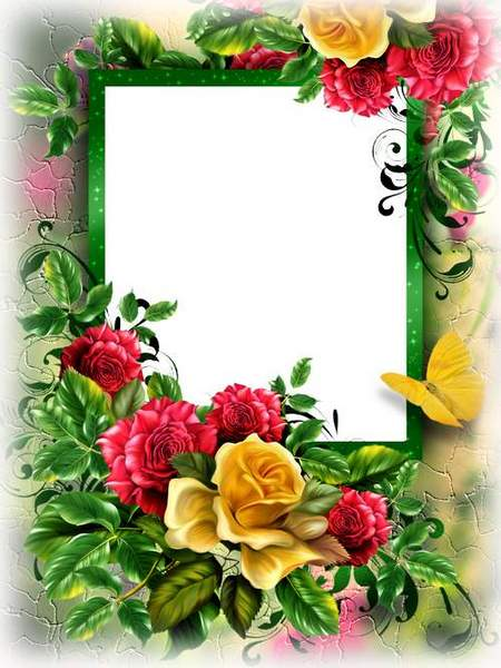 Flower frame download - free photoshop frame