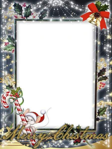 Winter frame for Photoshop - Merry Christmas