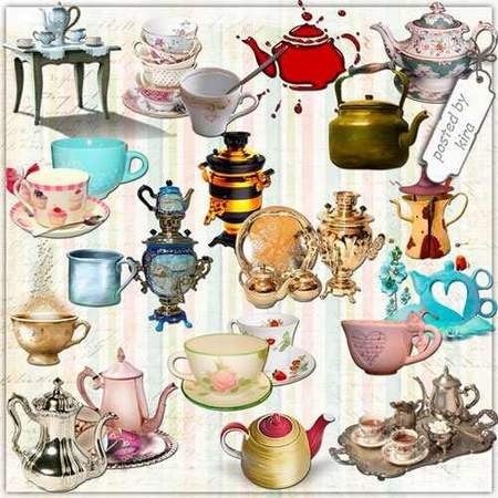 Crockery png images - Cups, teapots, samovars, dinner service - 169 free png download