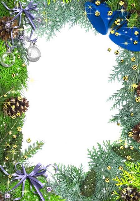 Festive frame for Photoshop - Christmas Fantasy ( free 3 frame png download)