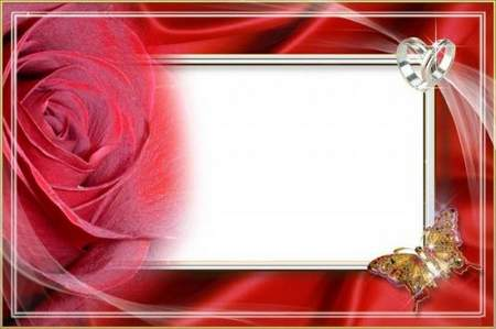 Wedding frame for a photo - rose for the bride