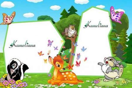 Children frame png download Bambi