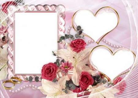 Beautiful frame png for your wedding photos free download