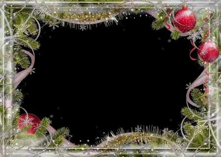 Free PSD Frames for Photoshop download - Christmas