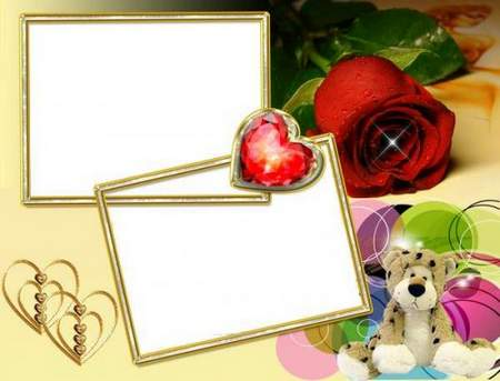 Frame romantic Ruby Heart - free frame psd + free frame png