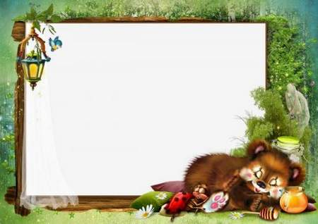 Free Child`s photo frame download - frame psd + 4 frame png