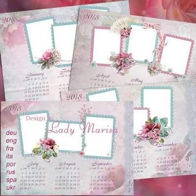2018, 2017 Loose-leaf Calendar psd download - free Calendar 4 psd file