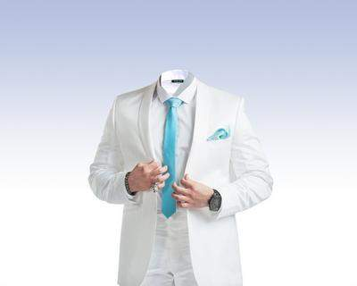 Male white suit psd download - free psd file (layered)