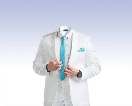 Male white suit psd