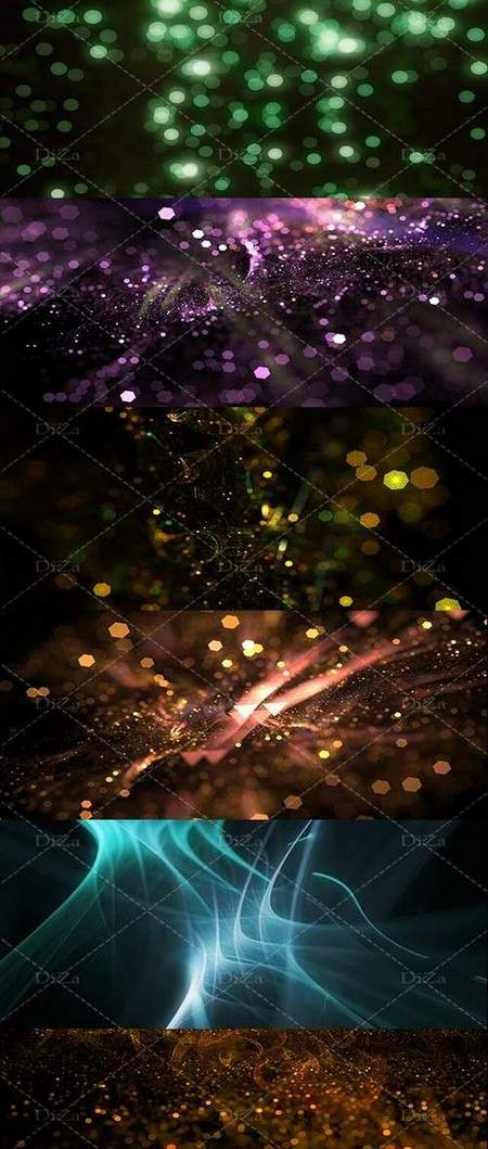 Abstract shiny glowing textures by Diza ( 25 PNG )