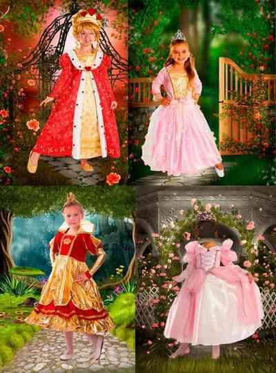 Children girls in dresses psd Fairy Princess - free 4 psd free download