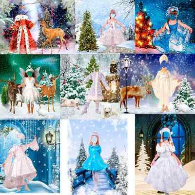 Kids girls Winter & Christmas dresses psd - free 10 psd files, free download
