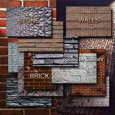 Stone and Brick Walls Textures for design