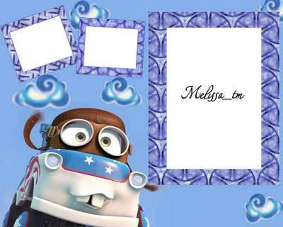 Photoframe psd Cars. Mater Pilot - free kids frame psd, free download
