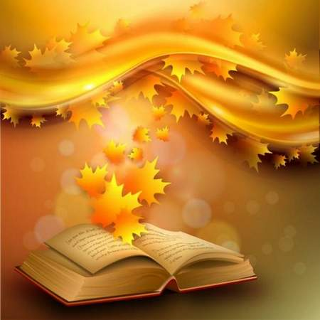 Autumn background psd old book