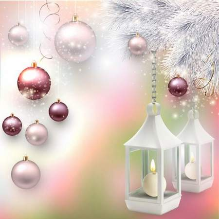 Free layered PSD for design Beautiful Christmas