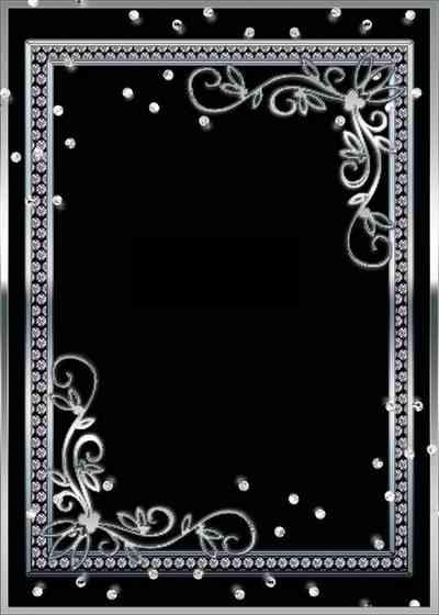 Silver Picture frame PSD for Photoshop ( free frame psd, free download )