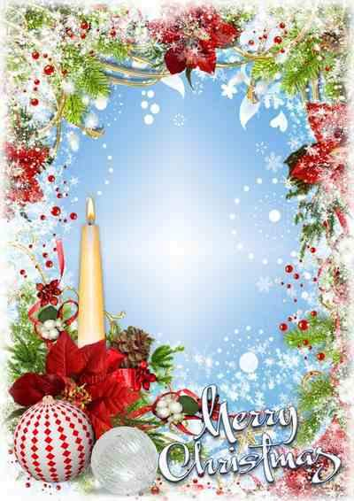 Christmas photo frame psd ( free frame psd, free download )