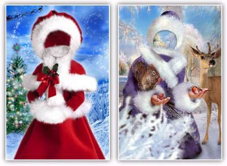 Girls psd - Beautiful Snow Maiden ( free 2 psd file, free download )
