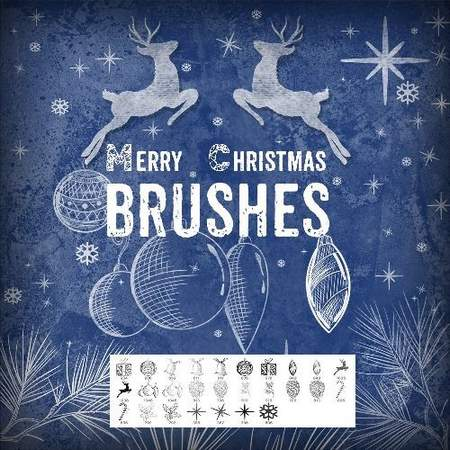 Christmas Brushes for Photoshop free download