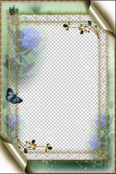 Frame for photo psd download - Flower Fairy Tale  ( free frame psd, free download )