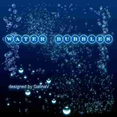 Water Bubbles PSD ( free psd file, free download )