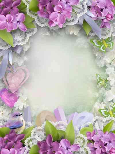 Flower frame psd - Touching moment  ( free photo frame psd, free download )