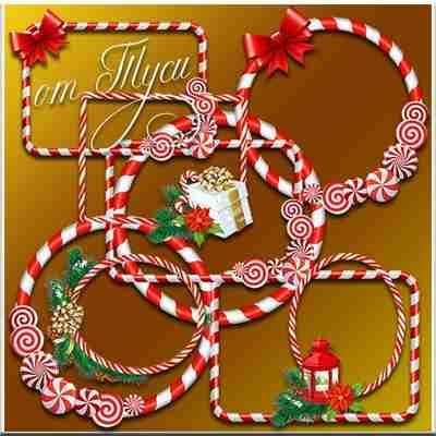 Christmas frames psd - candies ( free Christmas frames psd, free download )