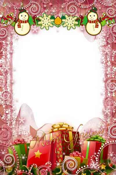 Celebratory Frame psd - Merry Happy Christmas ( free photo frame psd, free download )