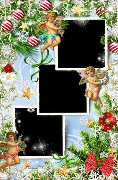 Holiday Frames for photo processing - Merry Christmas ( free photo frame psd + free photo frame png)