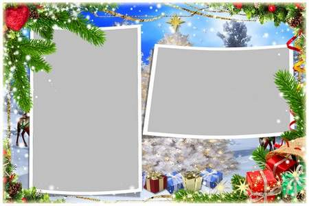 New Year frame psd - In this holiday of January