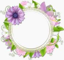 Frames png -necklines - Flower time has come