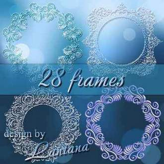Snow frames psd ( free psd frames, 1 psd / 28 layers - frames, free download )