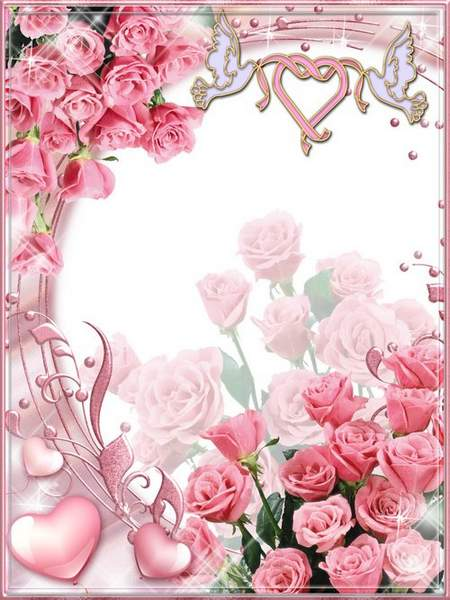 Romantic frames - Why are so sweet smell of roses
