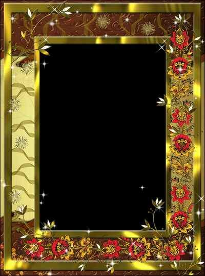 Frame for a glamorous photo - Gold and style ( free photo frame psd, free download )