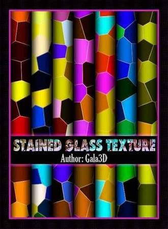 Stained glass textures, selection of bright and colorful textures ( free 10 textures, free download )