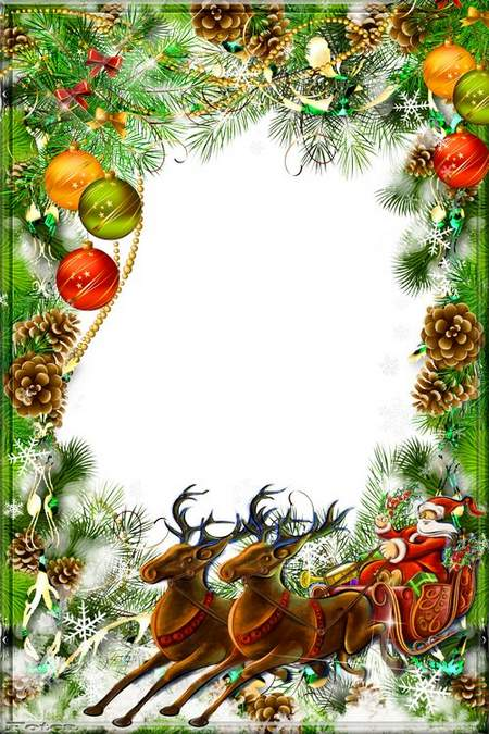 Frame - In the new year- let the good will and joy he