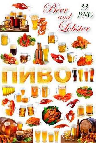 Beer png and lobster png on a transparent background ( free 33 png images, ~ 2500 x 8600 px, rar 402 mb, free download )