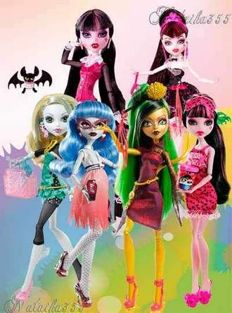 Monster High Dolls psd download ( free psd file, free download )