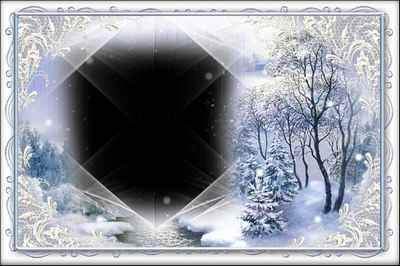 Winter Frame for photoshop