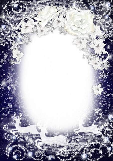 Winter frame - Snow Queen ( free photo frame psd, free download )